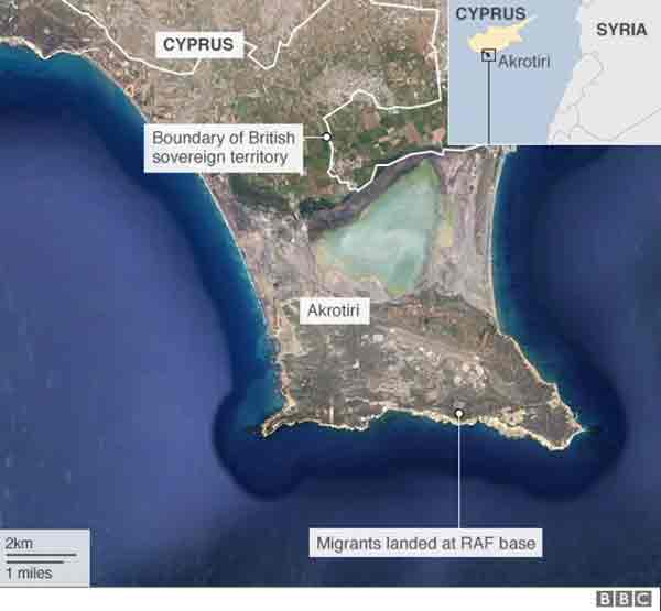 140 migrants land at UK base in Cyprus