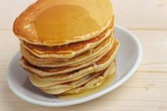 Kids special peanut butter pancakes
