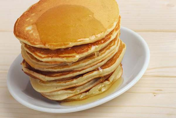 Kids special peanut butter pancakes