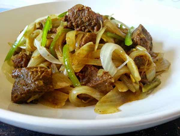 Beef chilli fry, a tasty dish