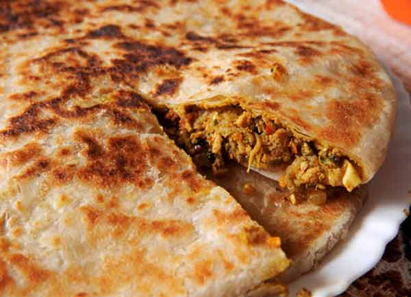 Stuffed paratha, a delicious dish