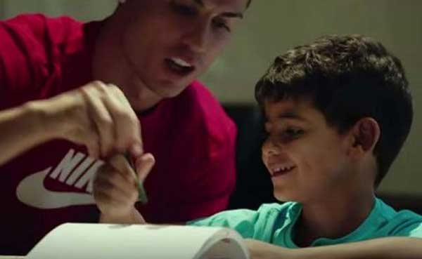Ronaldo's son is still adorably fascinated by Messi