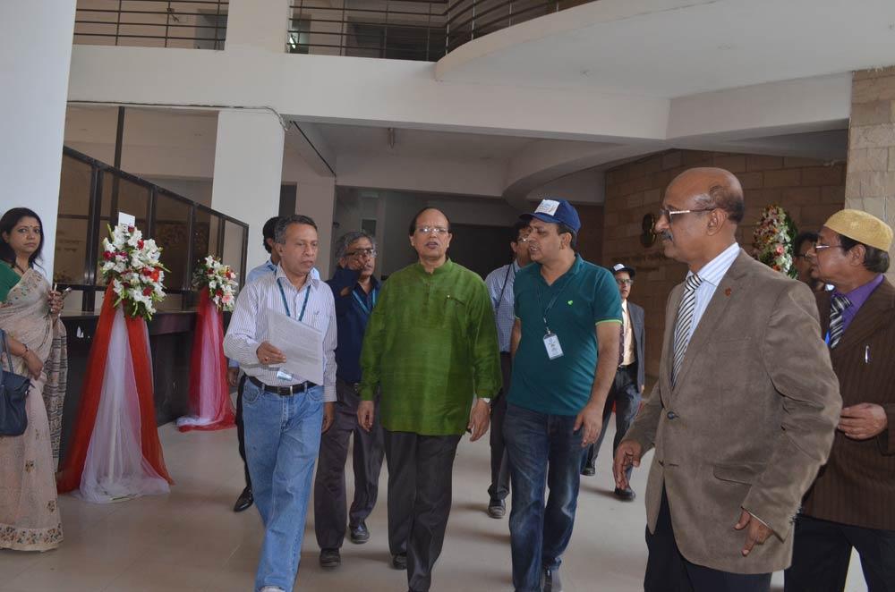 Bangladesh Bank Governor visits stalls at Banking Fair