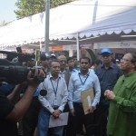 Bangladesh Bank Governor Dr Atiur Rahman speaks to media