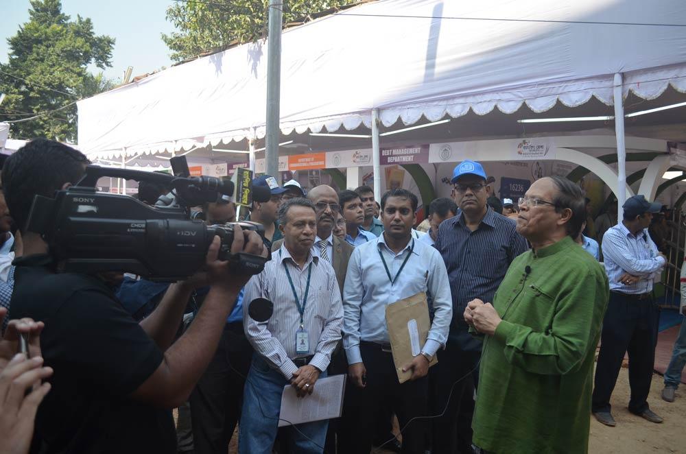 Bangladesh Bank Governor Dr Atiur Rahman speaks to media