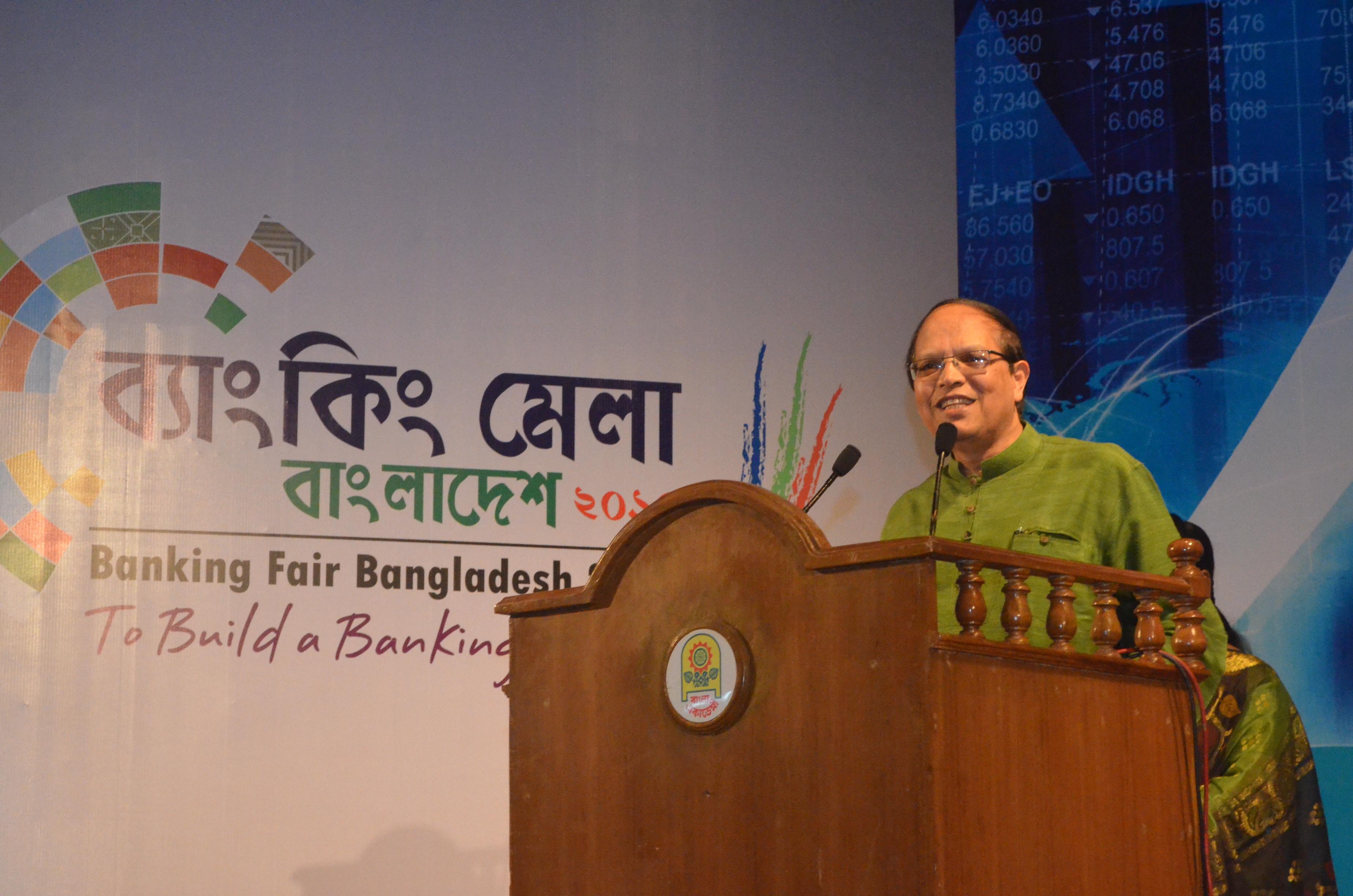 BB Governor Dr Atiur Rahman at Banking Fair Bangladesh 2015