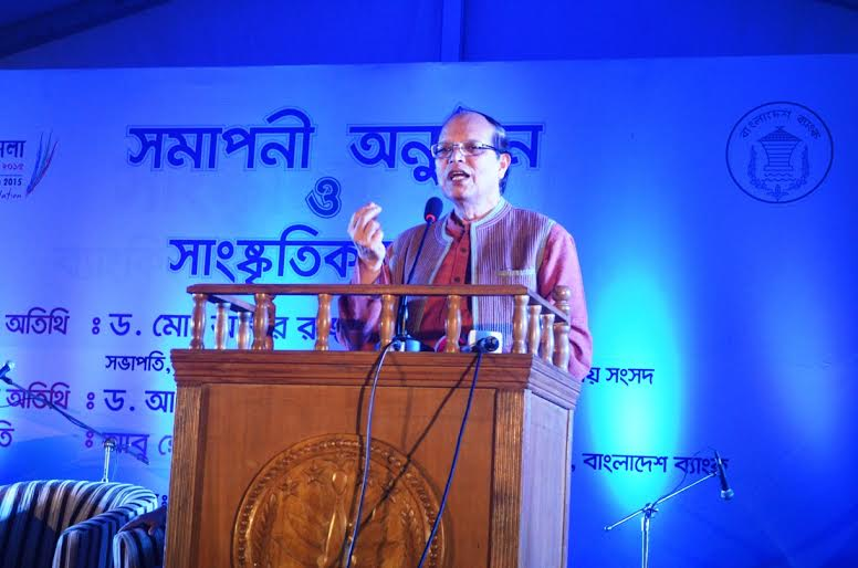 BB Gov Dr Atiur Rahman at fair closing ceremony