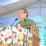 Bangladesh Bank Governor Dr Atiur Rahman speaks during the inaugural ceremony of Banking Fair Bangladesh 2015 on Bangla Academy premises in Dhaka on November 24, 2015. Photo: Bangladesh Bank