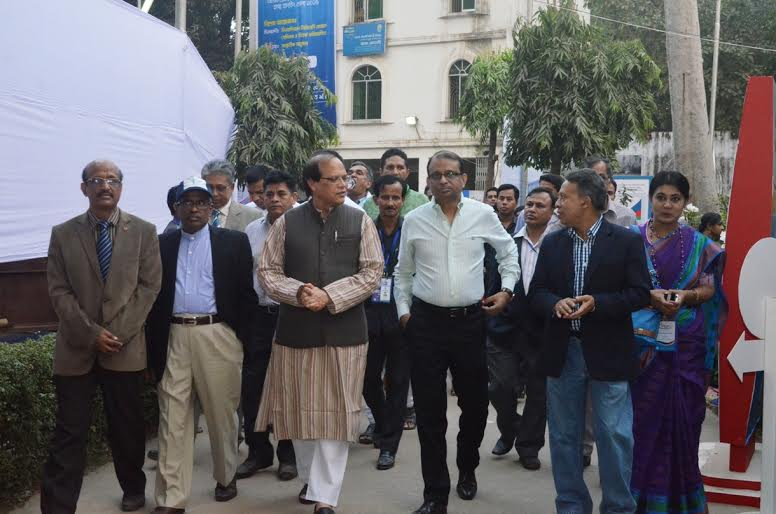 BB governor visits Banking Fair Bangladesh-2015 on fourth day in Dhaka