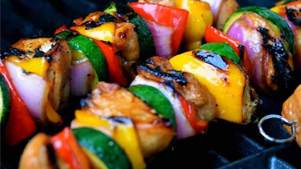 Yummy honey chicken kababs