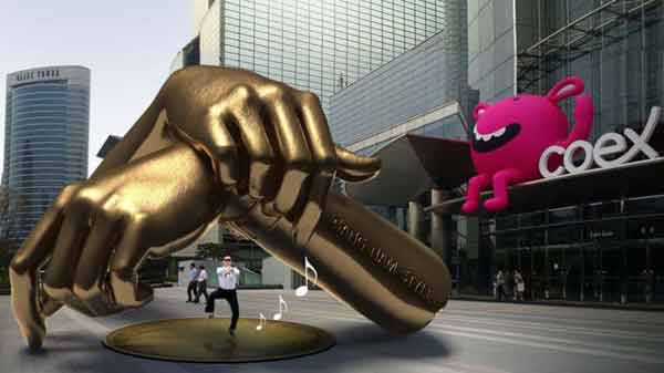 Gangnam Style statue built in South Korea's Seoul