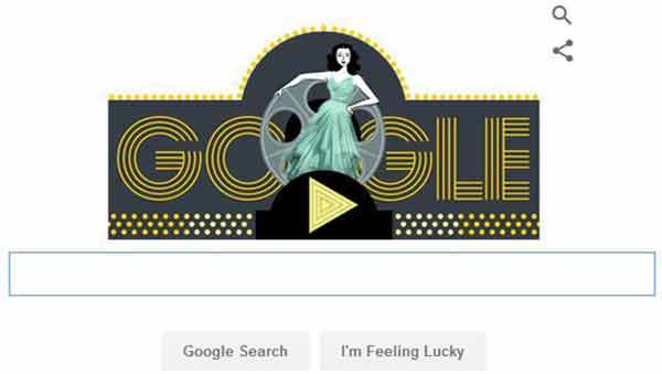 Google honours actress Hedy Lamarr on 101st birth anniversary