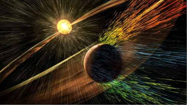 Mars atmosphere 'eroded by Sun activity'