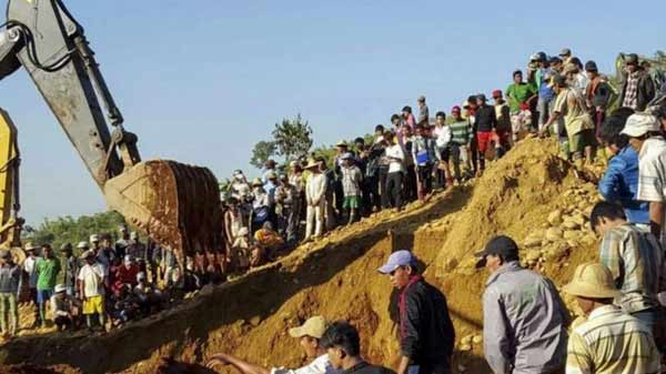 Myanmar landslide: Over 100 dead at Kachin jade mine