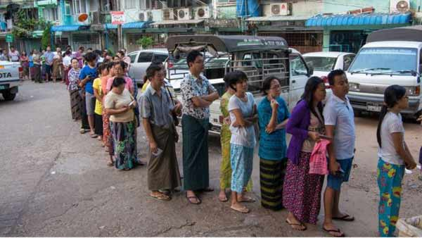 Myanmar votes in first open election in 25 years