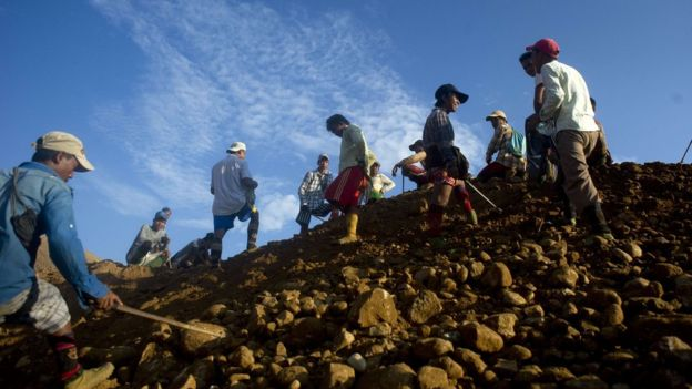 Myanmar mine landslide 'kills 50'