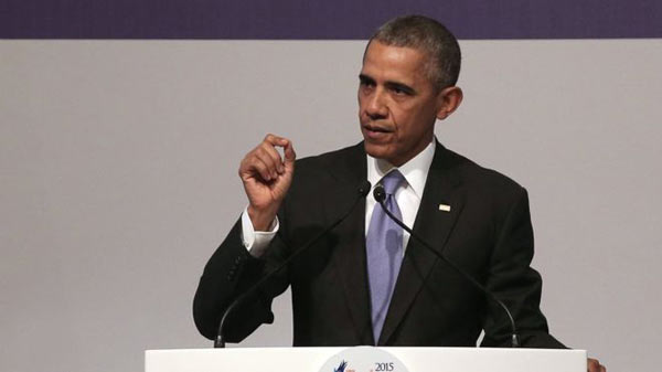 Obama vows to overcome terror threat