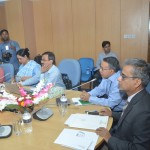 Bangladesh Bank GM AFM Asaduzzaman (left) replies to the queries of journalists while BB Chief Economist and Chief Organiser of Banking Fair Bangladesh 2015 Dr Biru Paksha Paul looks on during a press conference at bank's headquarters on November 23, 2015. Photo: Bangladesh Bank