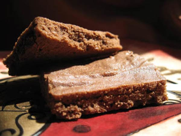 Rice flour brownies, a different recipe