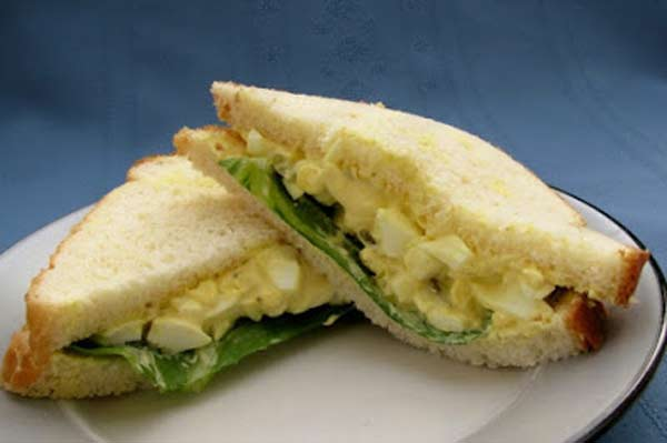 Kids special egg salad sandwich
