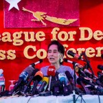 In her first interview since the polls, Suu Kyi congratulated the people of Myanmar