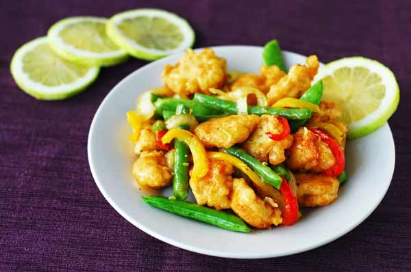 Delicious lemon chicken stir fry