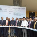 Bangladesh Bank Governor Dr Atiur Rahman inaugurates the maiden mobile ATM booth