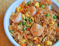 Shrimp fried rice, a delicious dish
