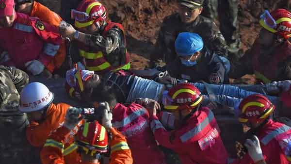 Man found alive after China landslide