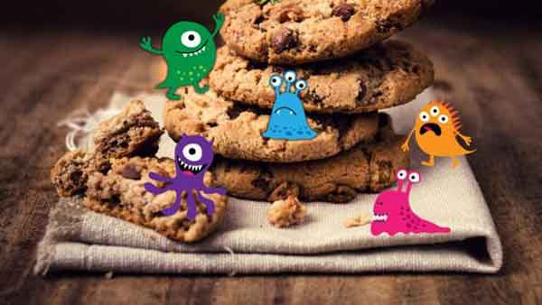 Save your cookies! Harmful bacteria live on them for months