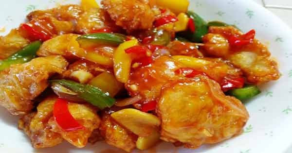 Fish with sweet and sour taste