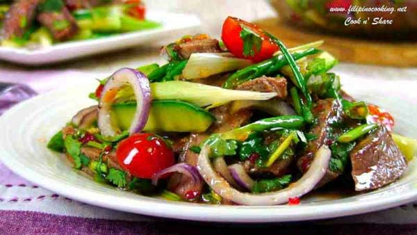 Beef salad with thai style