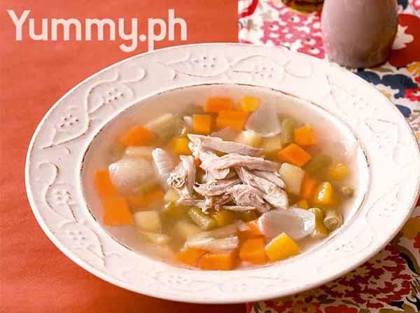 Winters yummiest chicken and veggie soup