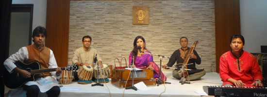 Tagore singer Toma performs at IGCC