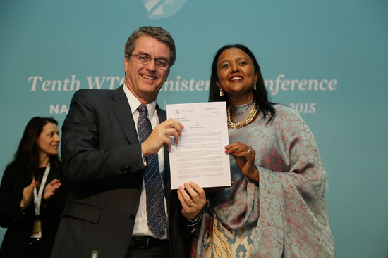 WTO members secure 'historic' Nairobi Package