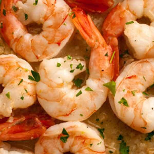 Yummiest garlic butter shrimp