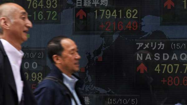 Asian shares up after global panic