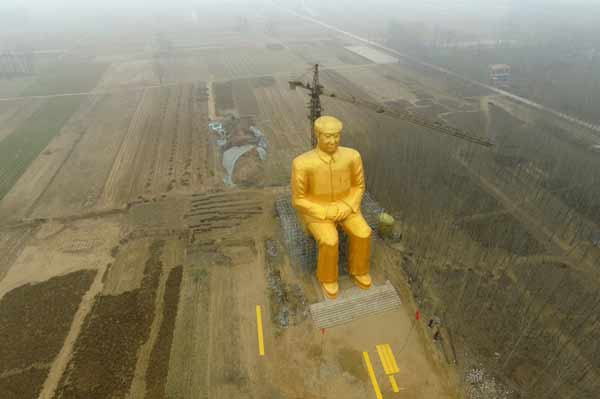 China's Mao statue 'demolished'