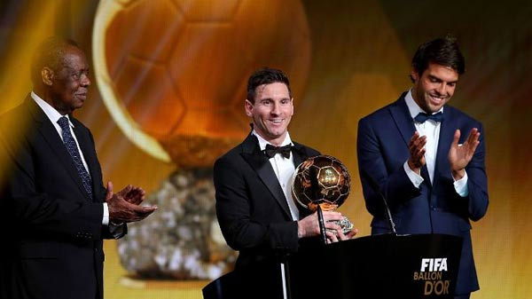 Messi wins Fifa Ballon d'Or for record 5th time