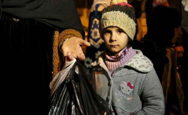 Evacuation call at starving Syrian town