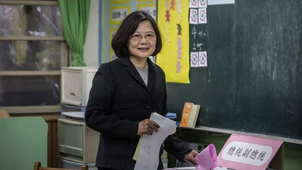 Taiwan elects first female president