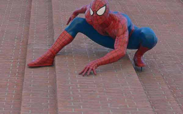 Sorry, we can't climb like Spider-man