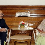 Indian High Commissioner Harsh Vardhan Shringla calls on Bangladesh Prime Minister Sheikh Hasina
