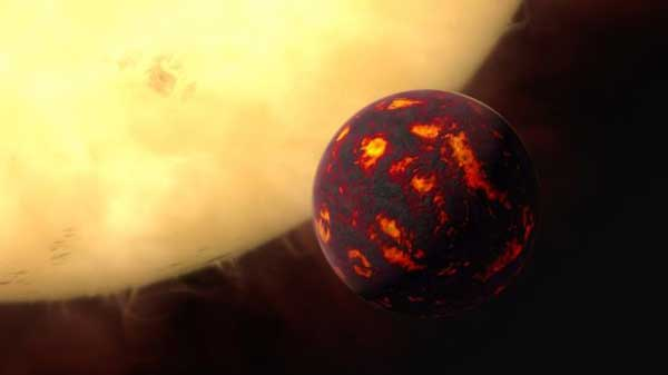 Gases analysed on distant 'super-Earth'