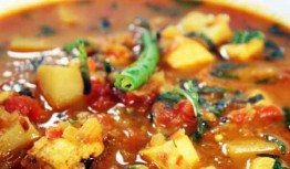 Potato with tomato, a winter recipe