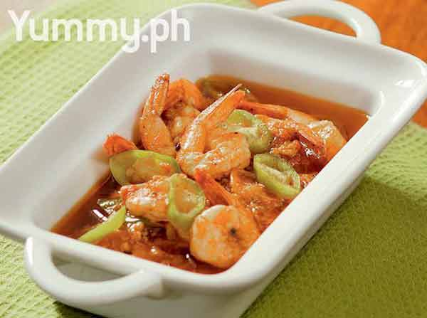 Winters hottest shrimp in spicy tomato soup