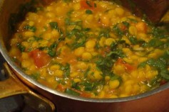 Quick and easy chana dal, a slide dish