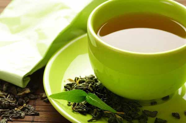 Green tea with fresh ginger