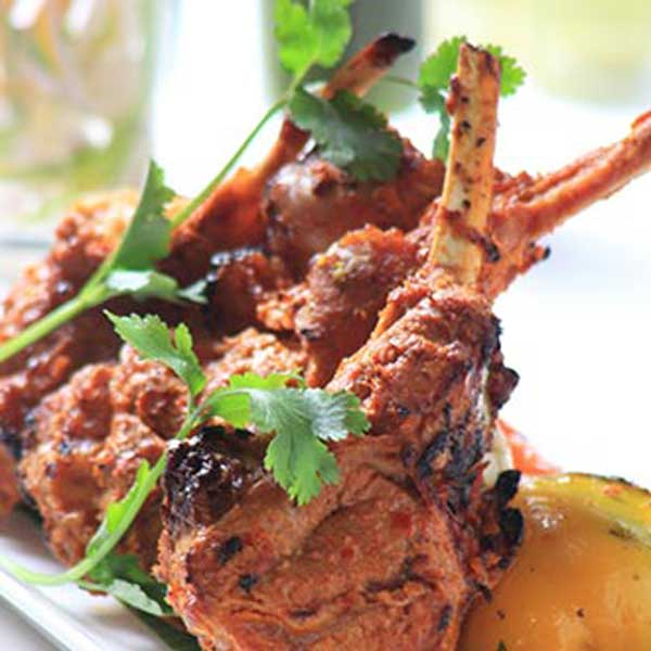 Tandoori lamb chops, a classic dish
