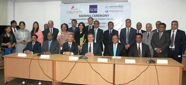ADB signs trade finance agreements with 4 Bangladesh Banks